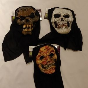 Scary Halloween Masks (set of 3)